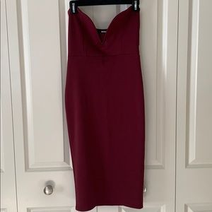 Strapless Fitted Midi dress